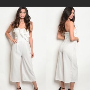 Pants - 🌊 NEW! White Strapless Jumpsuit